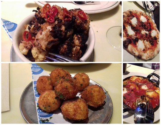 Delfina : Roasted cauliflower, Pizza, Stuffed Shells, Arancini
