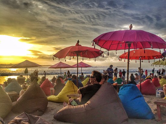Sunset Watching By The Bean Bags Picture Of La Plancha