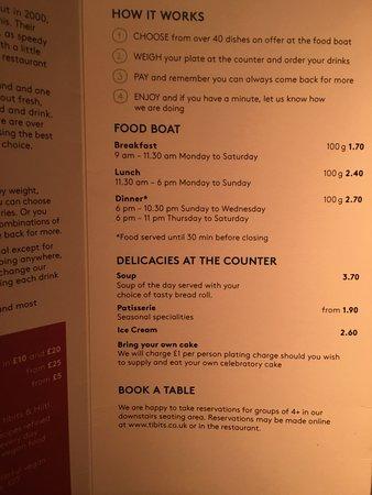 Snapshot Of The Menu Food Price Is By