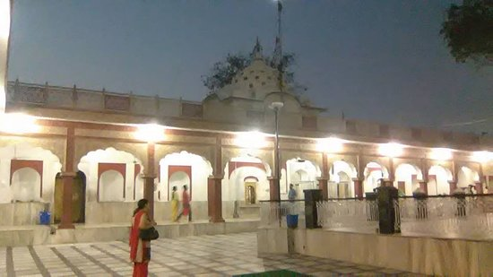 Kali Temple: A view of Kali mata temple, Patiala with wife in the foreground