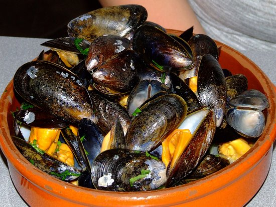 Onich, UK: Loch Leven Mussels cooked in cider