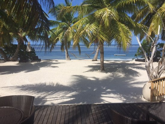 Alphonse Island, Seychelles: View from the bar
