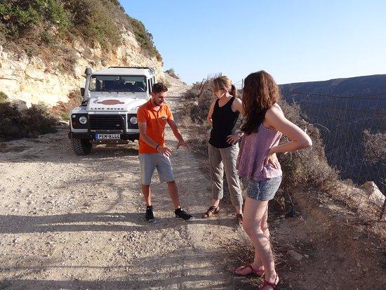 Cretan Safari Land Rover Experience: Manolis explains the habits of the bone breaker vulture