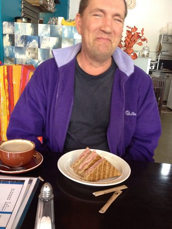 Moss Vale, Australia: Menus & toasted ham sandwich with good coffee