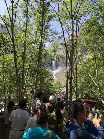 Baishan, China: waterfall