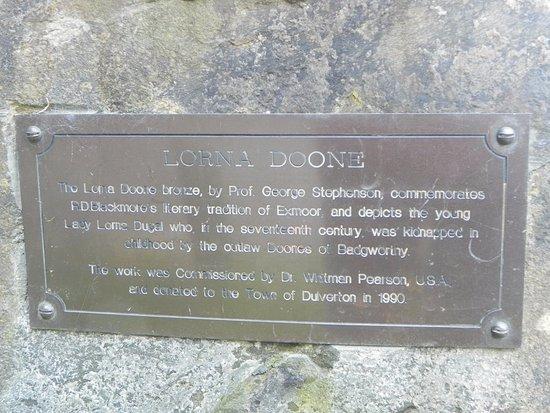 Exmoor National Park, UK: Information plaque