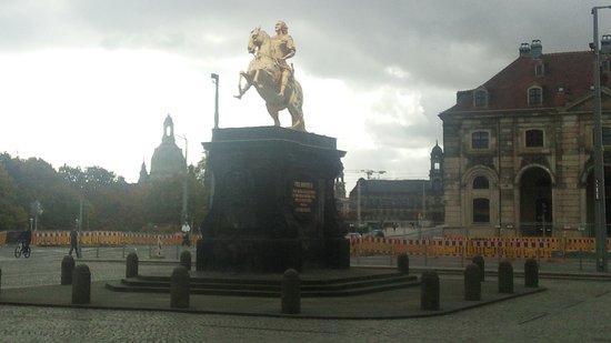 Bannewitz, Deutschland: Goldener Reiter in Dresden Neustadt