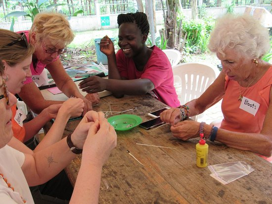 Central Region, Uganda: Rolling paper beads, not as easy as you think