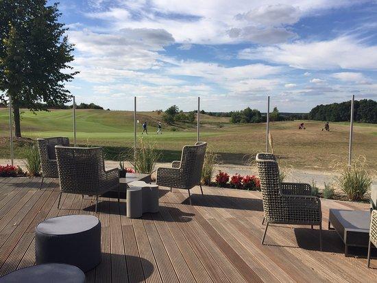 Goehren-Lebbin, Germany: Terrasse mit Blick auf den angrenzenden Golfplatz