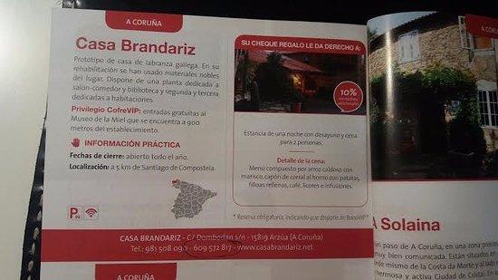 Dombodan, สเปน: Menú de la caja regalo (no coincidía con el menú real)