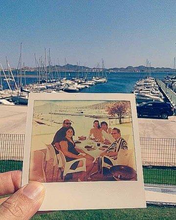 Restaurante Club Naútico Dos Mares: Foto que sacamos en el restaurante y las vistas al mar menor desde la terraza