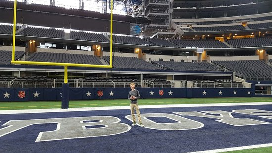 in the endzone at at t stadium dallas texas picture of at t rh tripadvisor com