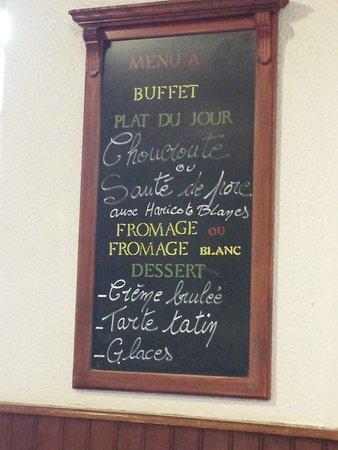 Aillant-sur-Tholon, Francia: Un menu ardoise toujours frais et fait maison.