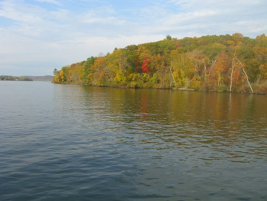 Haddam, CT: View of the Connecticut River Fall foliage