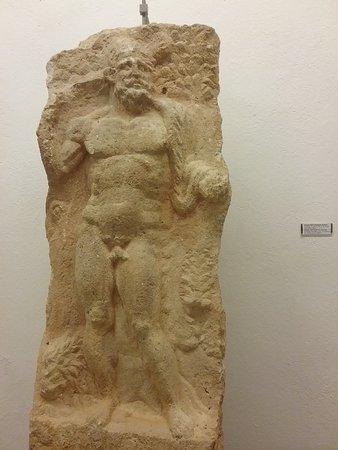 Skrip, Croacia: Relief sculpture of Hercules in the Brac Museum