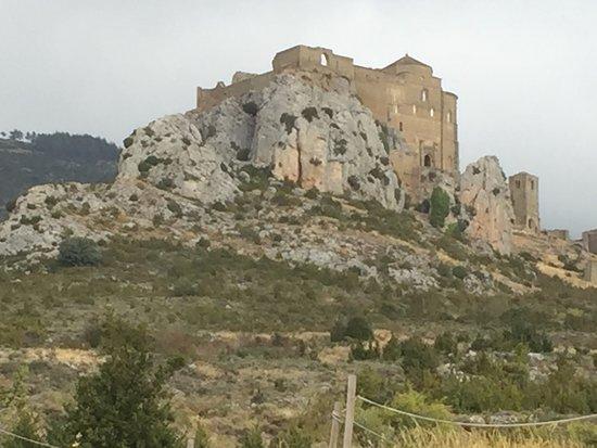 Aragon, Spain: View approaching castle