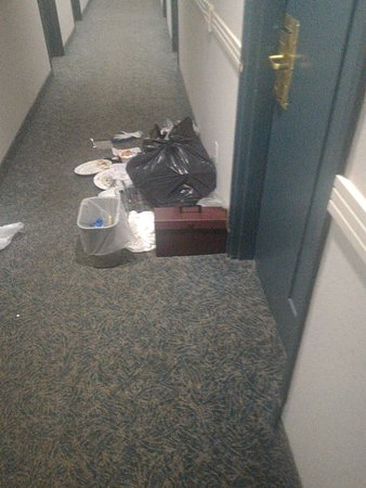 Athabasca, Canada: Garbage outside the room they prepared for me...