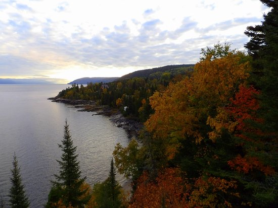 Auberge de la Riviere Saguenay : Saguenay River, view from the room