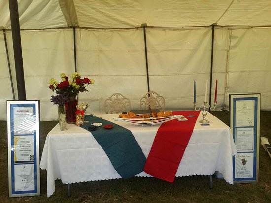 Dundee, South Africa: Chez Nous Bed and Breakfast table at Talana Live 2016