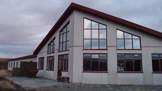 Hotel Gullfoss : batiment central depuis l'extérieur