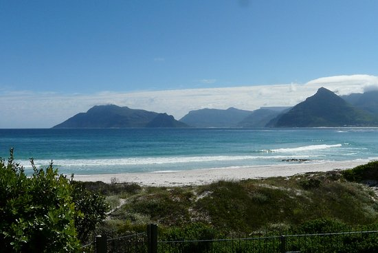 The Last Word Long Beach: View of the bay, Chapman's Peak and rear of Table Mountain