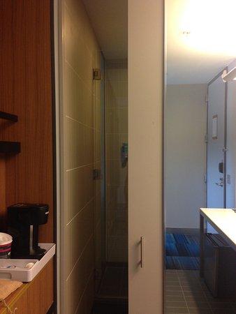Aloft Las Colinas Mirrored Pocket Door