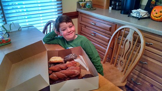 Country Style Doughnuts : Surprise Donuts for Grandson in Varina