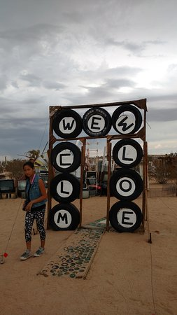 Outdoor Desert Art Museum of Assemblage Sculpture: What do you think this says? Look again.