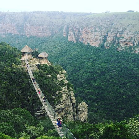 Suspension bridge at Lake Eland Game Reserve - scary but awesome!
