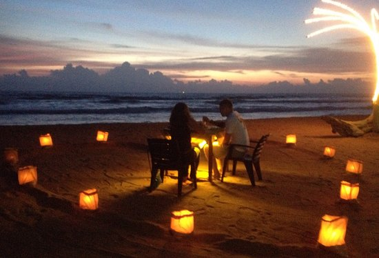 Best Romantic Dinner On The Beach And Very Beautiful