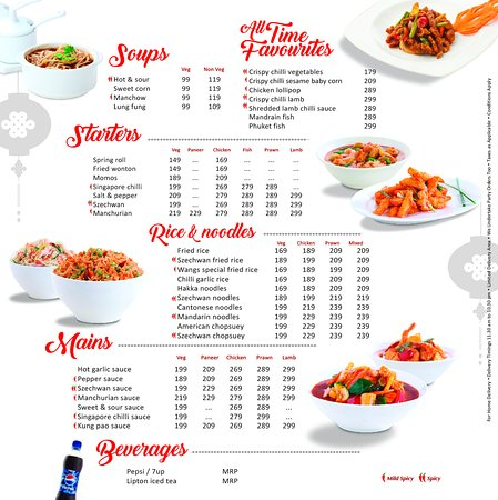 Concise Menu - Picture of Wangs Kitchen, Perambalur - TripAdvisor