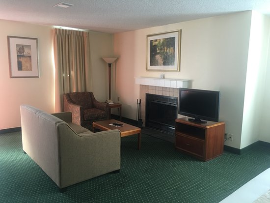 Hawthorn Suites by Wyndham Akron/ Fairlawn : Standard Living Room area for our suites (not all have fireplaces)