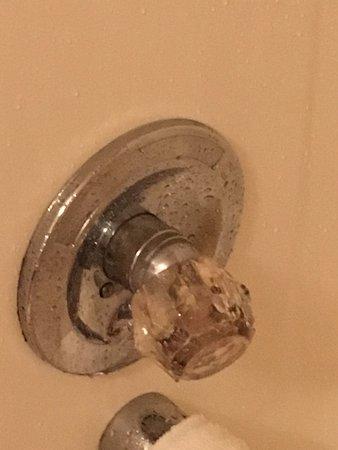 Mold In Shower Handle mold inside shower knob. - picture of backhome log cabins