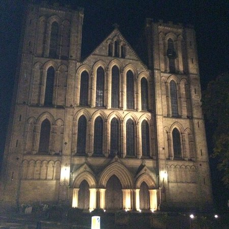 The Old Deanery: Ripon Cathedral from the Car park entrance to the hotel