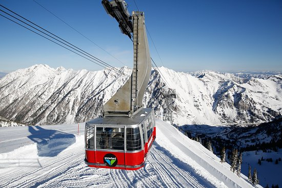 The aerial tram at Snowbird.  Photo by Marc Piscotty/VisitUtah