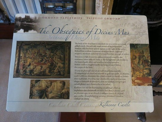 Kilkenny, Ireland: Tapestry sign