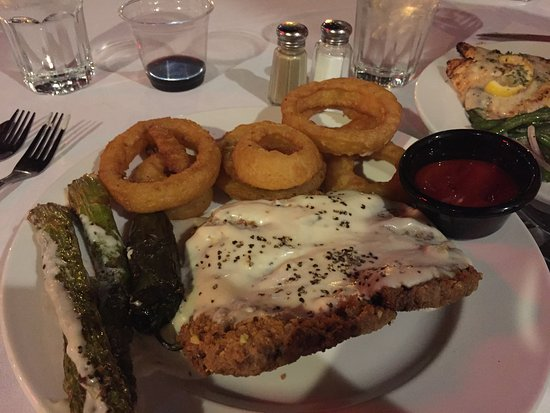 Van Horn, TX : Pistachio Crusted Steak & rings