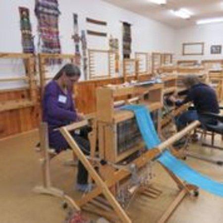 Brasstown, NC: weaving at john c campbell folkschool