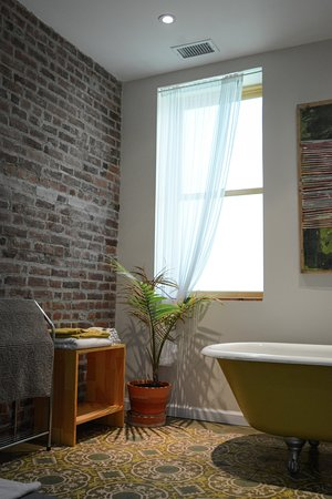 Haverstraw, NY: The Roman Bathroom that is in the HEP Room Photo: Nina Skowronski