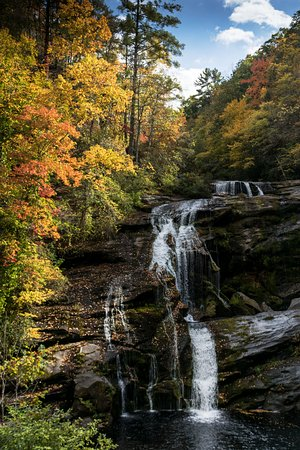 Tellico Plains, TN : Ball River Falls with full fall color