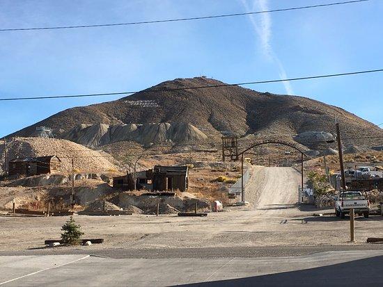 Tonopah Mines behind Mizpah Hotel