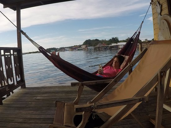 Koko Resort: Sitting in the hammock.