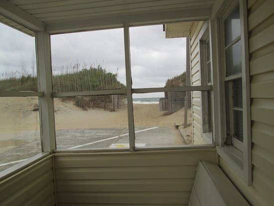 Ocean Side Court: from porch of cabin 6 in 2015- able to see the ocean