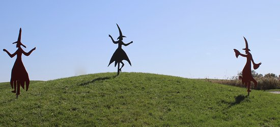Taltree Arboretum and Gardens : Witches dancing in Taltree Arboretum.