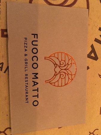 Fuoco Matto La Carte De Visite Du Restaurant