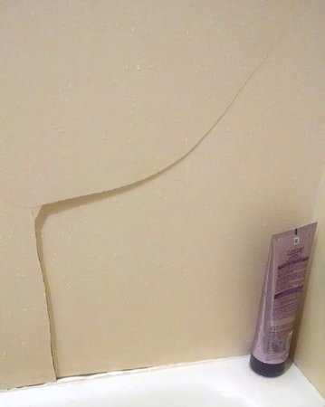 Holiday Inn Charleston-Mount Pleasant: Large crack in shower