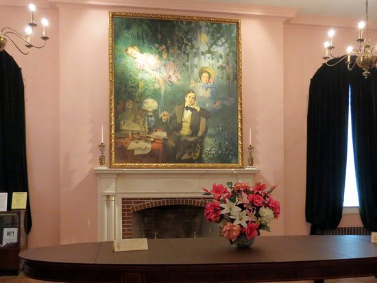 White Springs, فلوريدا: Painting depicting Stephen Foster dreaming about Jeannie