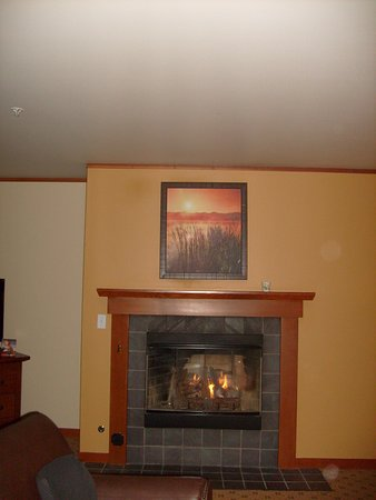 Skamania Lodge: Fireplace suite