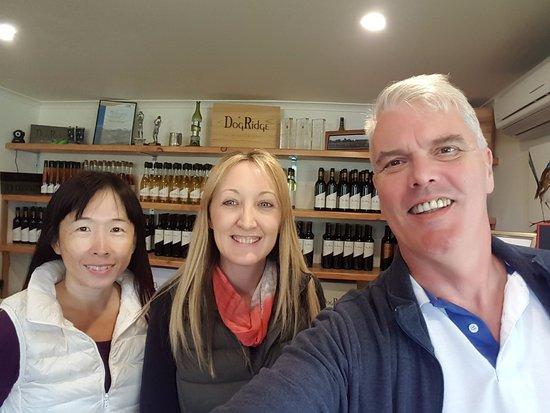 McLaren Vale, Australia: Dog Ridge Winery Cellar Door - our host today, Pauline