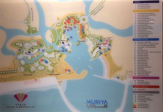 Karte Oman Salalah.Karte Mit Den 3 Hotels Rotana Juweira Al Fanar Und Hafen